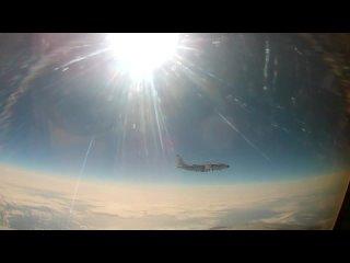 Минобороны опубликовало видео перехвата самолета ВВС США российским МиГ-31