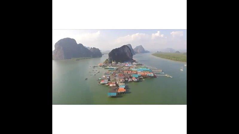 Деревня морских цыган Ко Панье что находится в заливе Пханг Нга рядом с о Пхукет Таиланд удивительное место городок ст