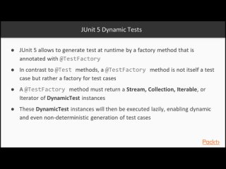02.6 - Dynamic Tests - Introduction to JUnit 5 [Video]