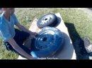 НИВА Покраска дисков колёс в поле без съёма шин. Подготовка ржавых дисков к покраске