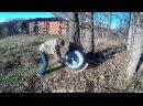 НИВА Как быстро покрасить диски колёс без съёма шин. Покраска дисков в полевых условиях