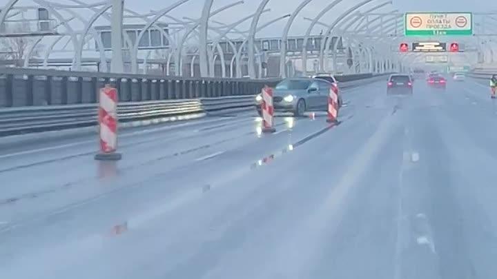 Авария на 4-м километре северного направления ЗСД, между Благодатной и Ветеранов.