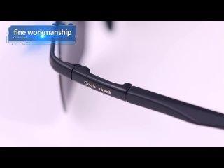 Cook shark's новые поляризованные солнцезащитные очки, мужские хипстерские водители, защита от