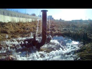 Ледяной водопад в Кургане