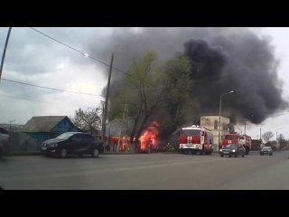 Саранск. Пожар на Химмаше с самого начала.