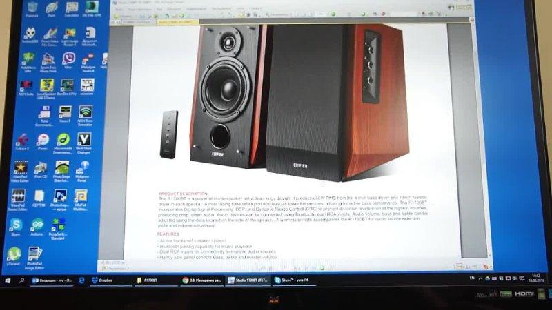 Обзор Edifier R1700BT Конструкция и особенности