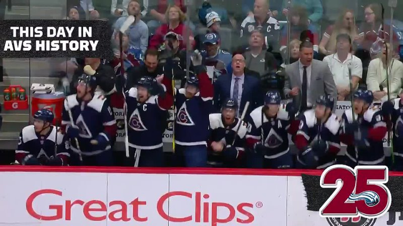 AVS needed on point to clinch a playoff spot and rallied to force overtime and earn a 3 2OT victory vs the Jets on Apr 4 2019