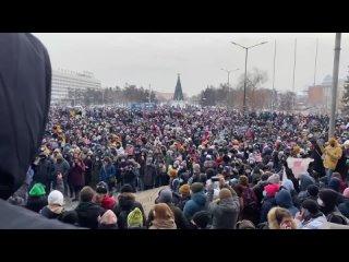 Незаконый митинг в Иркутске