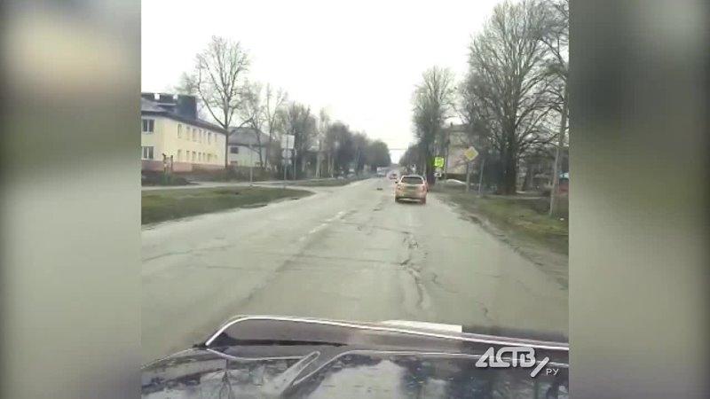 Сахалинцы поставили матерный знак на разбитой дороге