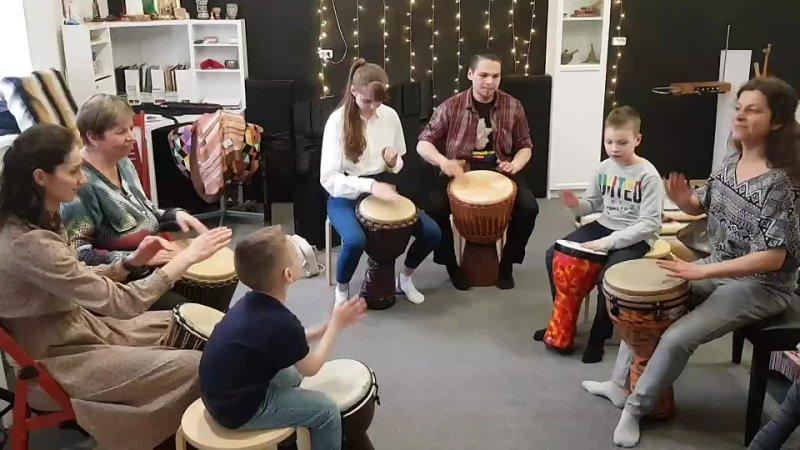 Интерактив по Барабанам и перкуссии мира в Полиритме (Псков)