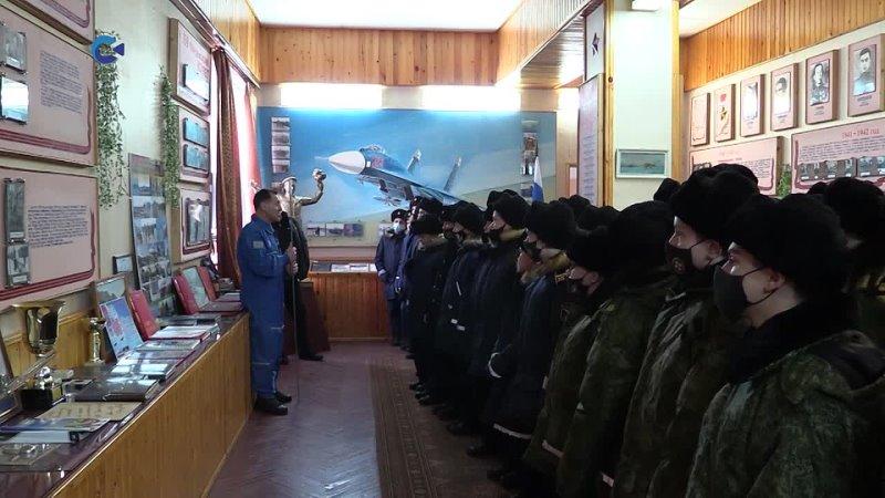 В преддверии Дня космонавтики карельские кадеты побывали на экскурсии в авиационном полку гарнизона Бесовец