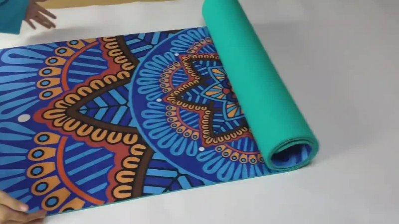 6 MM motif Lotus daim TPE tapis de Yoga coussin antidérapant minceur exercice Fitness gymnastique tapis musculation