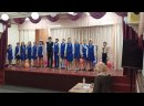 а у нас поют не только девочки, но и мальчики запевают правда очень волновался.. на сцену снова как в 1-й раз с дрожью в голосе