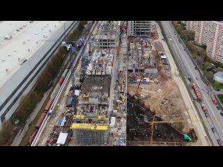 Строительство Национального космического центра, апрель 2021