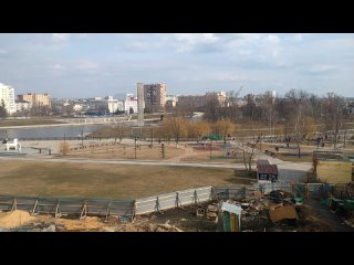 1005, , Орёл, Пролетарская Гора, памятник Бунину, вид на Детский парк, слияние Оки и Орлика, Красный мост, ЗАГС