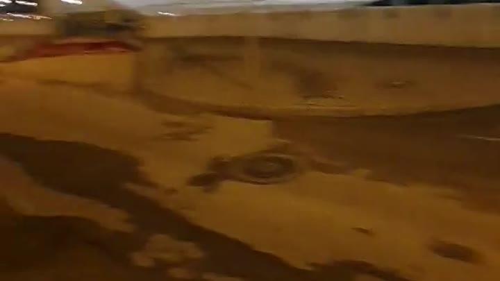 Будьте осторожнее проезжая по Брантовской дороге около ТРЦ Охта Молл. На дороге огромная яма глубино...