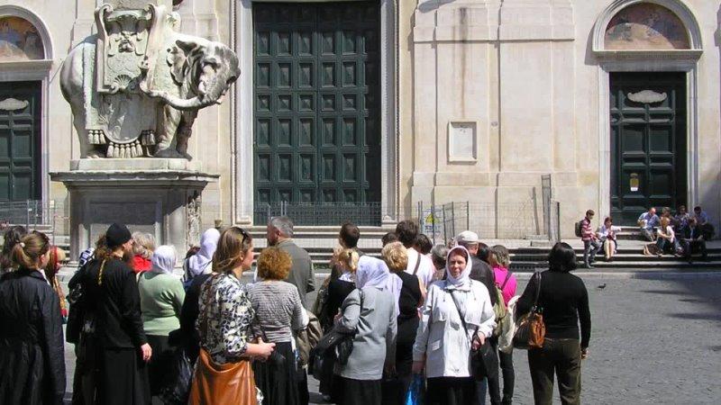 Рим Площадь Минервы