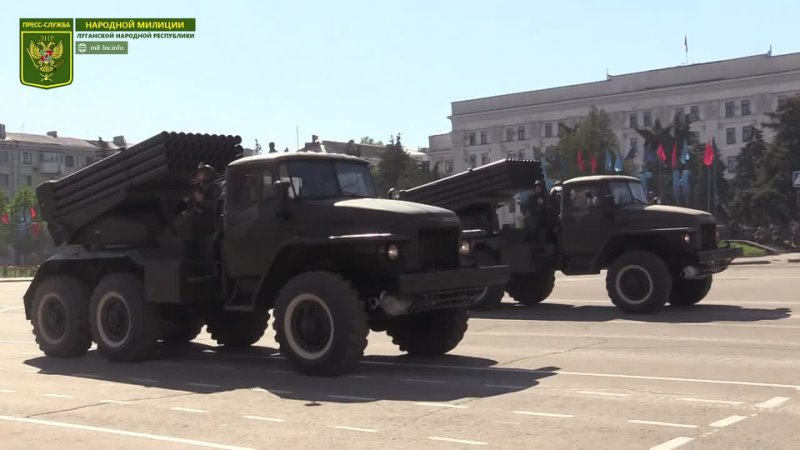 Глава ЛНР принял участие в репетиции Парада Победы в Луганске