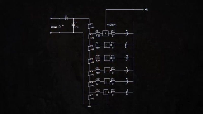AKA KASYAN Индикатор уровня аудио сигнала сложная схема 😉