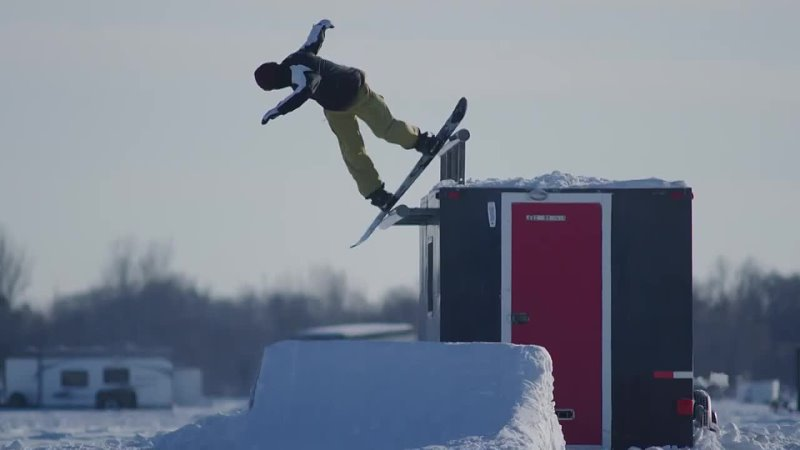 Snowboarding on a Frozen Lake with Benny Milam and Friends Lakehouse