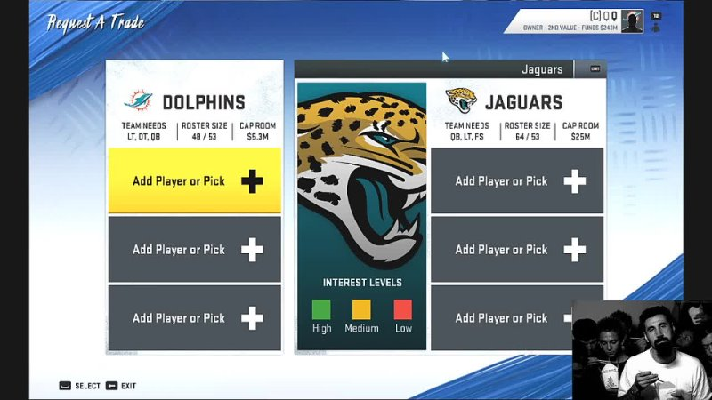 NFL Madden trying to rebuild a team for a first time