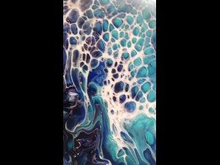 Мой новый аквамариново лазурный Арт 🔮Принимаю заказы на подобного рода картины ✨🎆✨🎆✨