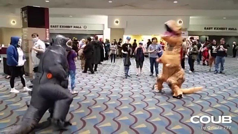 Godzilla vs T Rex fight