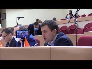Коммунист Николай Бондаренко выступает против антинародных законов оккупационного режима