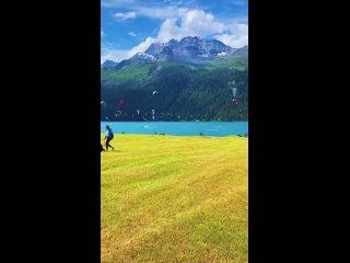 Летнее веселье на озере Сильваплана, Швейцария