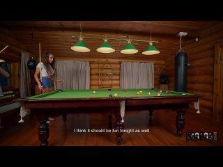 Русское порно, русская речь в бильярдной с двумя милыми девушками