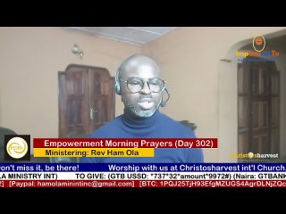 """Empowerment Morning Prayers Live"" (Day 302) by Rev Ham Ola"