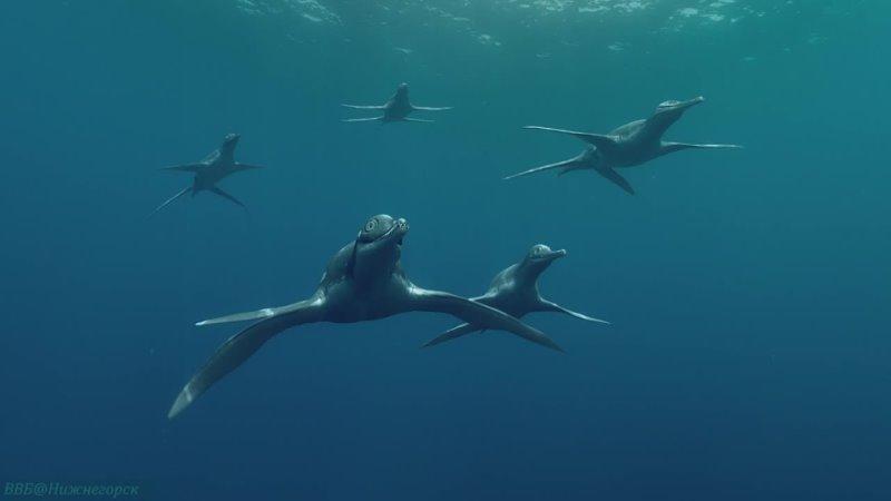 Чудища морей Доисторическое приключение Познавательный палеонтология реконструкция 2007