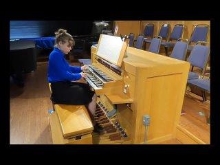 529 J. S. Bach - Trio Sonata No. 5 in C Major, BWV 529 - Katelyn Emerson, organ