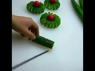 Нарезка из овощей красиво!
