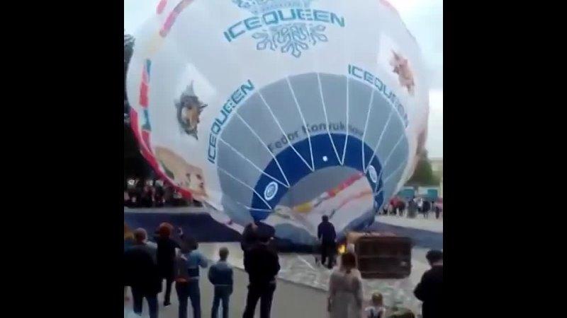 Старт гигантского воздушного шара «Россия» с центральной площади в станице Ессентукской стал ещё одной акцией предгорненцев к Дн