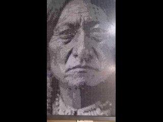 Только представьте! Картина из 500 000 частей домино!