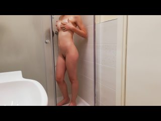 Goth Teen Plays Solo in Steamy Hotel Shower Summer Knight - Beautiful Babes