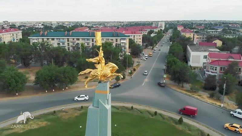 Элиста с высоты птичьего полёта Калмыкия mp4