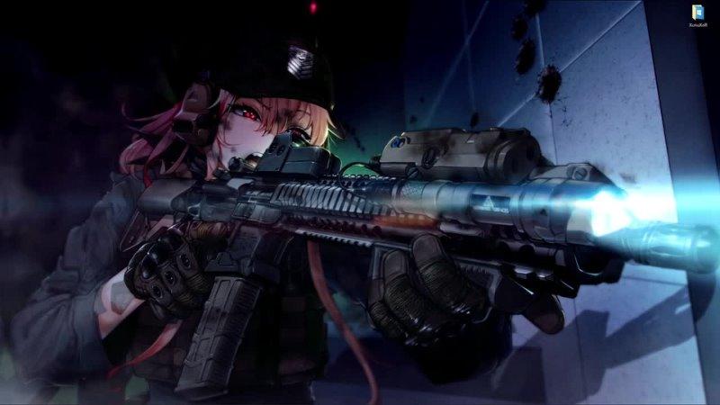 Rush in Girls Frontline with M4 SOPMOD 2 - живые обои для Wallpaper Engine
