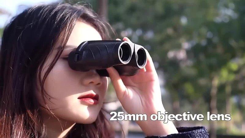 APEXEL Professional Binoculars 10x25 BAK4 Prism High Powered Zoom Binocular 114m1000m Hunting Telescope for Sport bird-watching