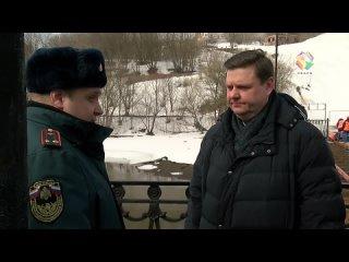 Глава округа проконтролировал ход работ на самом крупном гидротехническом сооружении Подольска.