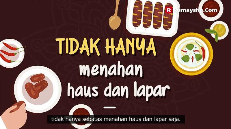 Motion Graphic 3 Hal Penting Terkait Niat Puasa Ramadhan Rumaysho