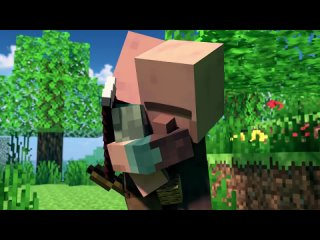 [Black Plasma Studios] SAVE THE VILLAGE - Alex and Steve Life (Minecraft Animation)