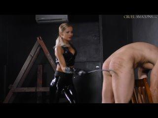 Mistress Tatjana - Mistress Tatjana's Painful Caning [Femdom, Humiliation, Blonde, Caning, Corporal Punishment, High Heels]