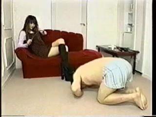 Japanese extreme femdom beating