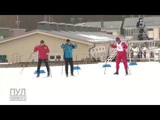 А тем временем Лукашенко принял участие в лыжной эстафете