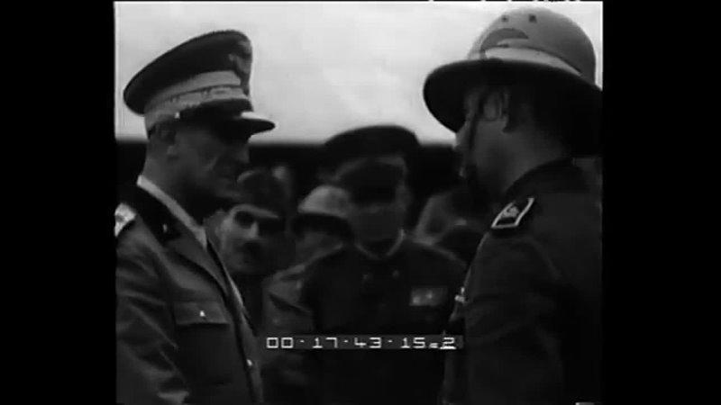 Cerimonie militari alla presenza del Viceré Graziani