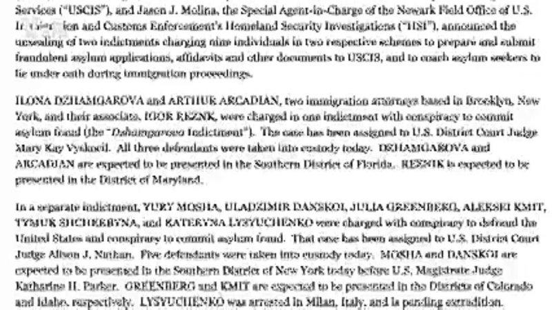 Скандал с арестом русскоязычных адвокатов в Нью Йорке