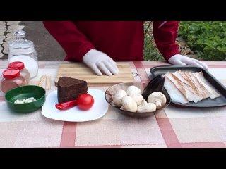 ТРИ вида ЗАКУСОК из САЛА на УГЛЯХ. Рецепт закусок из соленого сала и овощей на мангале. ENG SUB (720p)