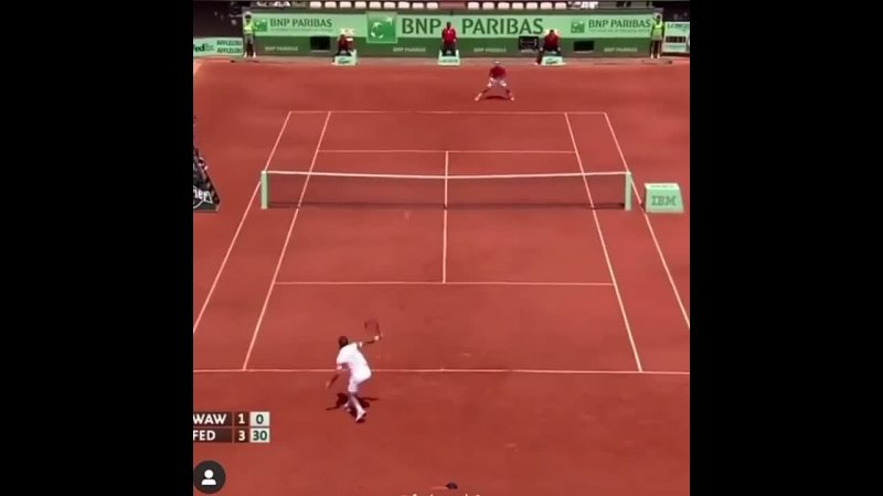 Just an incredible slice ferom Federer